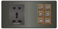 SU-SBP5101+1060  萬用插座+光環開關(6Key)